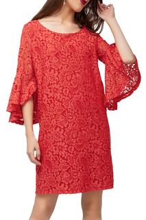 Свободное платье с кружевом VILATTE