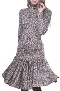 Приталенное платье с высоким воротом Olivegrey