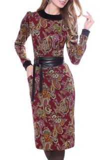 Приталенное платье с узорами Olivegrey