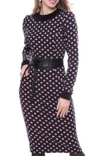 Приталенное платье в горошек Olivegrey