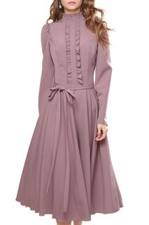 Приталенное платье с высоким воротом MARICHUELL