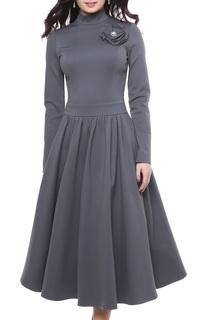 Приталенное платье с декором Grey Cat