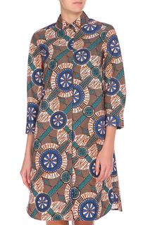 Свободное платье с принтом Max Mara