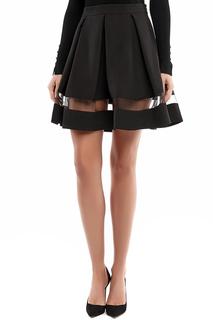 Расклешенная юбка с прозрачной вставкой A.Karina