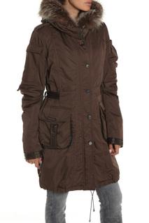 Полуприлегающее пальто с натуральным мехом Fontanelli