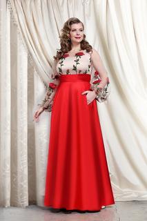 Вечернее платье с цветочной вышивкой To Be Bride