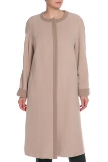 Полуприлегающее пальто с шарфом Le Monique