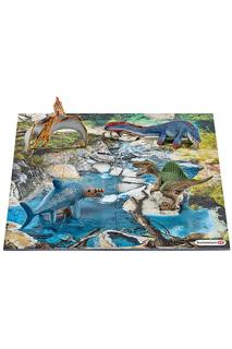 Набор мини-динозавры и пазл Schleich