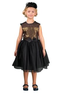 Легкое платье с пышной юбкой украшенное поетками и сеткой BOOM