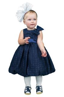 Легкое платье с атласным поясом BOOM