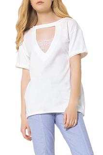 Прямая блузка с принтом на спине #ябренд