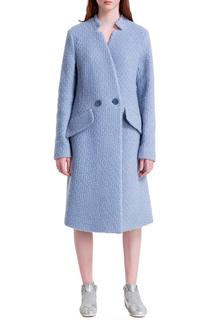 Полуприлегающее пальто с воротником-стойка JN