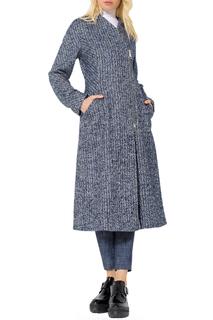 Приталенное пальто с асимметричной застежкой JN