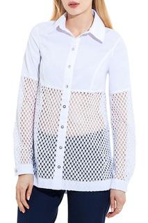 Свободная рубашка со вставками из кружева JN