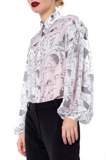 Свободная блузка с отложным воротником JN