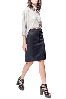 Трапециевидная юбка с декоративной молнией LO