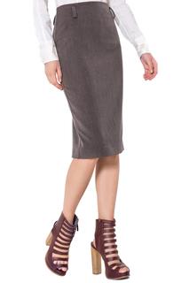 Прямая юбка с разрезом LO