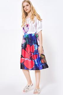 Прилегающее платье с цветочным принтом JN