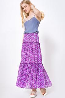 Длинная юбка с воланами LO
