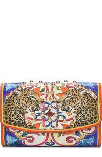 Клатч с принтом на цепочке Dolce & Gabbana