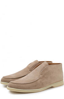 Замшевые ботинки Open Walk без шнуровки Loro Piana