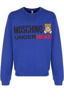 Хлопковый свитшот с принтом Moschino