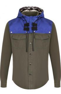 Хлопковая рубашка с капюшоном Valentino