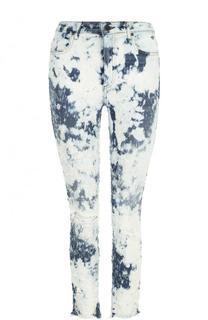 Укороченные джинсы-скинни с потертостями Denim X Alexander Wang