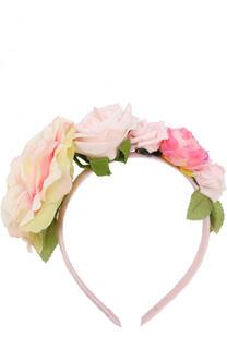 Ободок с цветочным декором David Charles