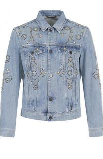 Джинсовая куртка с отделкой Versace