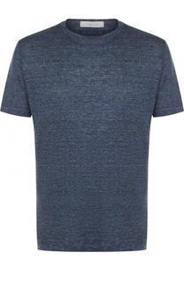 Льняная футболка с круглым вырезом Cortigiani