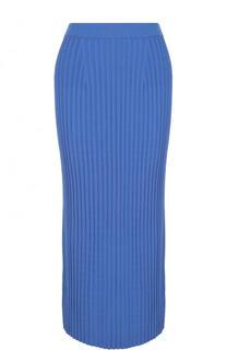 Однотонная вязаная юбка-миди MRZ