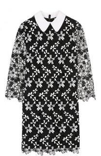 Мини-платье с укороченным рукавом и контрастным воротником Alice + Olivia