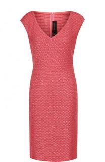 Приталенное мини-платье с V-образным вырезом St. John