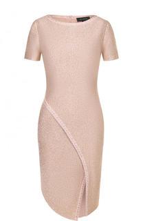 Приталенное платье-миди с коротким рукавом St. John