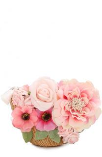 Плетеная сумка с цветочным декором David Charles