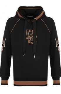 Хлопковое худи с аппликацией Dolce & Gabbana