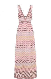 Вязаное платье-миди с V-образным вырезом M Missoni