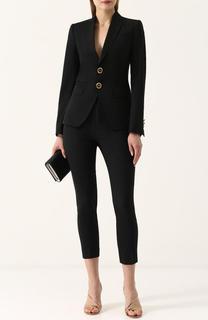 Шерстяной однотонный костюм с укороченными брюками Dsquared2