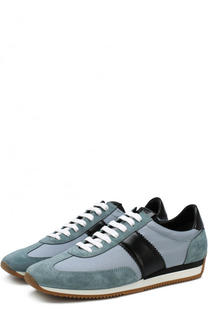 Комбинированные кроссовки на шнуровке Tom Ford