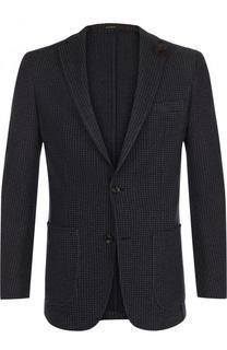 Однобортный пиджак из смеси хлопка и шерсти Windsor
