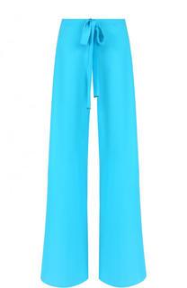 Шелковый расклешенные брюки с эластичным поясом Roberto Cavalli