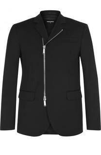 Однобортный шерстяной пиджак на молнии Dsquared2