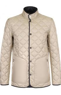Двусторонняя стеганая куртка на кнопках Ermenegildo Zegna