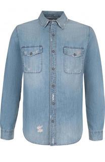 Джинсовая рубашка с потертостями Ag