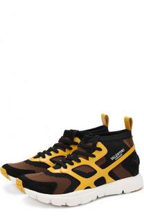 Текстильные кроссовки Sound High на шнуровке Valentino