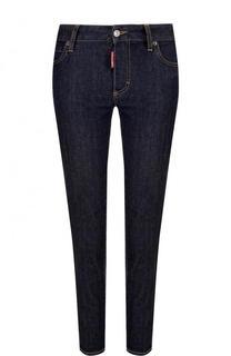 Укороченные джинсы прямого кроя с контрастной прострочкой Dsquared2