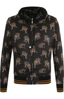 Бомбер на молнии с капюшоном Dolce & Gabbana