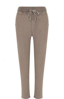 Однотонные хлопковые брюки с эластичным поясом James Perse