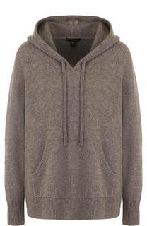 Однотонный кашемировый пуловер с капюшоном James Perse